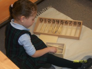 Montessori preschool mathmatics